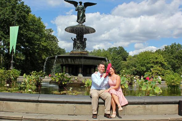 NYCCentralParkEngagementPhotos.bethesdafountainfun.apicturesquememoryphotography