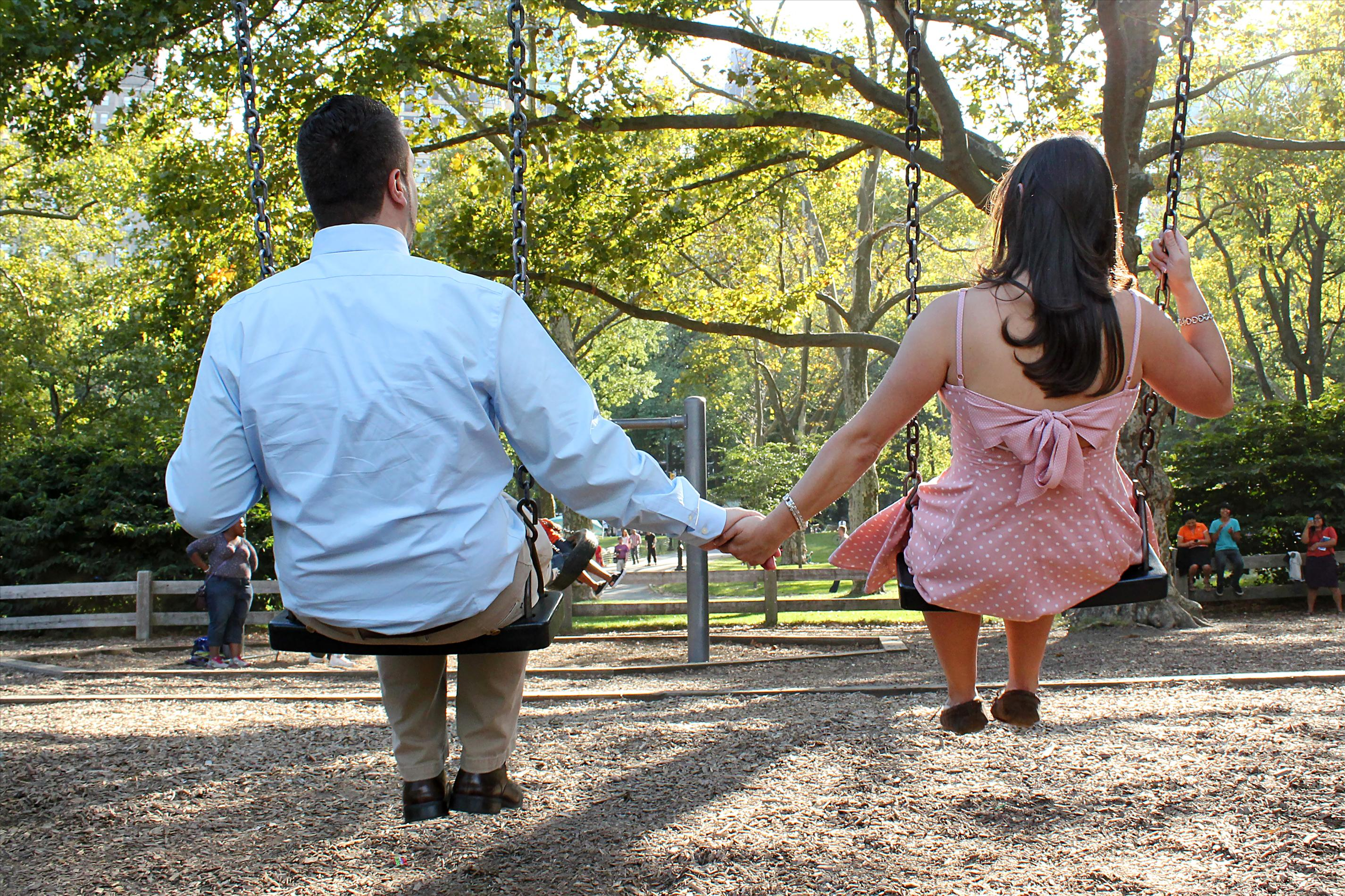 NYCCentralParkEngagementPhotos.playgroundswings.apicturesquememoryphotography