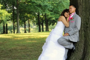 bride-and-groom-standing-by-tree.wedding-photos.a-picturesque-memory-photography.wedding-photographer