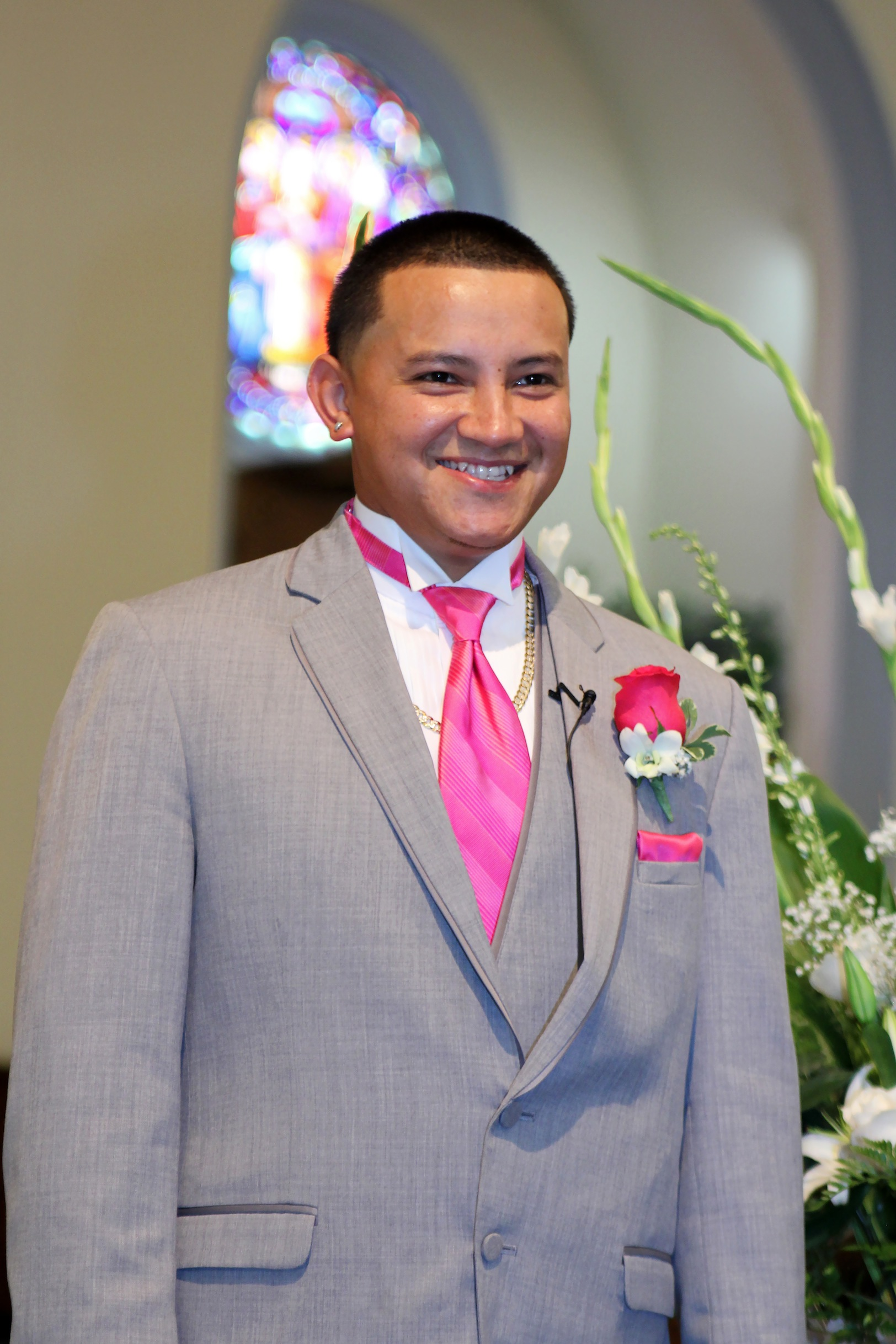 GROOM.GREY-SUIT-PINK-TIE.CEREMONY-PROCESSION.A-PICTURESQUE-MEMORY ...