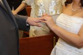 ring exchange-civil wedding ceremony-wedding photos-perth amboy municipal court