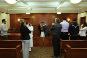 civil wedding ceremony-wedding photos-first kiss-perth amboy municipal court