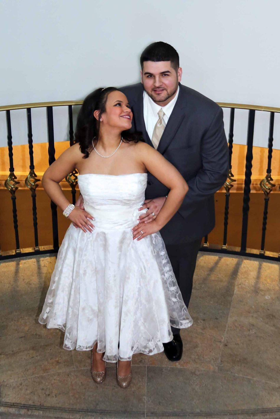 bride and groom-wedding photos-perth amboy municipal court