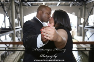 #weddings #apicturesquememoryphotography #engagement #bridetobe #groomtobe #weddingphotography #njwedding #engagementphoto #weddingphoto #hobokenterminal #hobokentrainstation #engagementring #lackawannarailroad