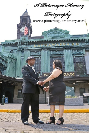 #weddings #apicturesquememoryphotography #engagement #bridetobe #groomtobe #weddingphotography #njwedding #engagementphoto #weddingphoto #hobokenterminal #hobokentrainstation #lackawannarr