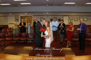 #brideandgroom, #justmarried, #njwedding, #apicturesquememoryphotography, #weddingphotography, #weddings, #firstkiss, #civilceremony, #woodbridgenj