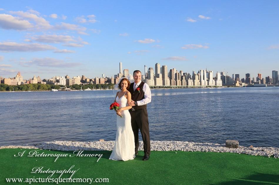 #brideandgroom, #justmarried, #njwedding, #apicturesquememoryphotography, #weddingphotography, #weddings, #watersiderestaurant, #northbergennj, #nycskyline