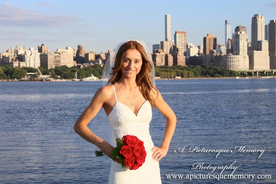 #bride, #justmarried, #njwedding, #apicturesquememoryphotography, #weddingphotography, #weddings, #watersiderestaurant, #northbergennj, #nycskyline, #bridesbouquet
