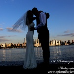 #brideandgroom, #justmarried, #njwedding, #apicturesquememoryphotography, #weddingphotography, #weddings, #watersiderestaurant, #northbergennj, #nycskyline
