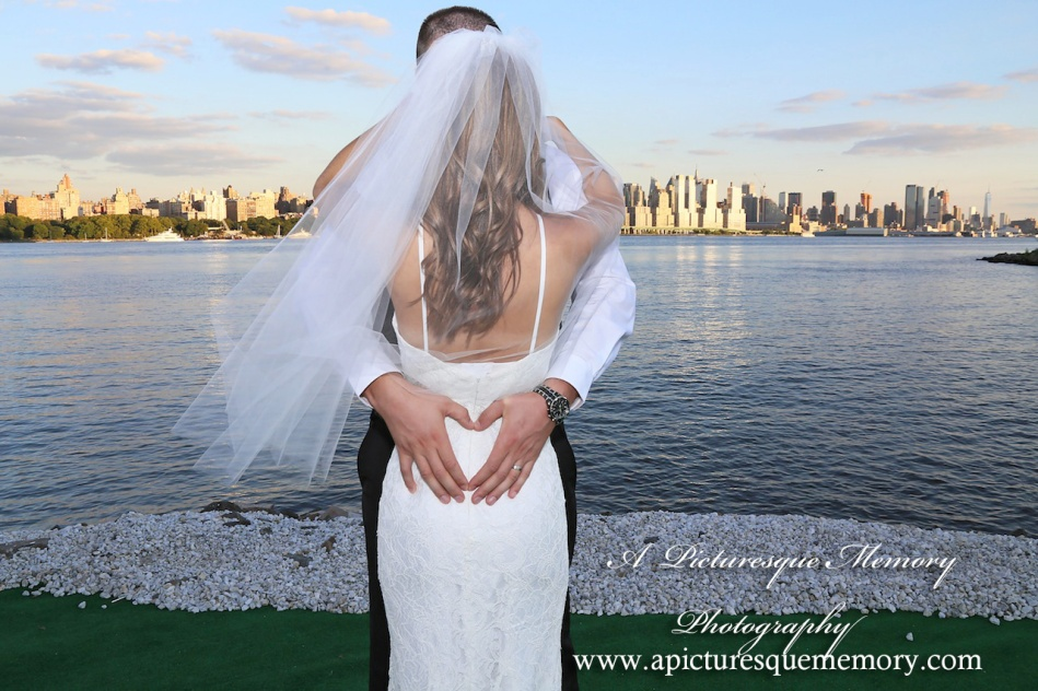 #brideandgroom, #justmarried, #njwedding, #apicturesquememoryphotography, #weddingphotography, #love, #weddings, #watersiderestaurant, #northbergennj, #nycskyline
