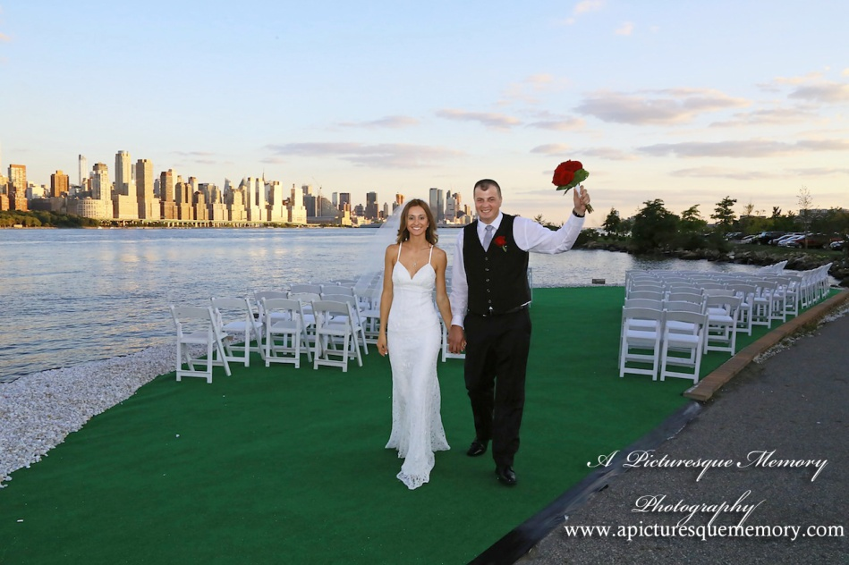 #brideandgroom, #justmarried, #njwedding, #apicturesquememoryphotography, #weddingphotography, #weddings, #nycskyline, #love, #watersiderestaurant