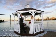 #brideandgroom, #justmarried, #njwedding, #apicturesquememoryphotography, #weddingphotography, #weddings, #watersiderestaurant, #love, #gazebo