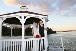 #brideandgroom, #justmarried, #njwedding, #apicturesquememoryphotography, #weddingphotography, #weddings, #gazebo, #watersiderestaurant