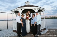 #brideandgroom, #justmarried, #njwedding, #apicturesquememoryphotography, #weddingphotography, #weddings, #gazebo, watersiderestaurant