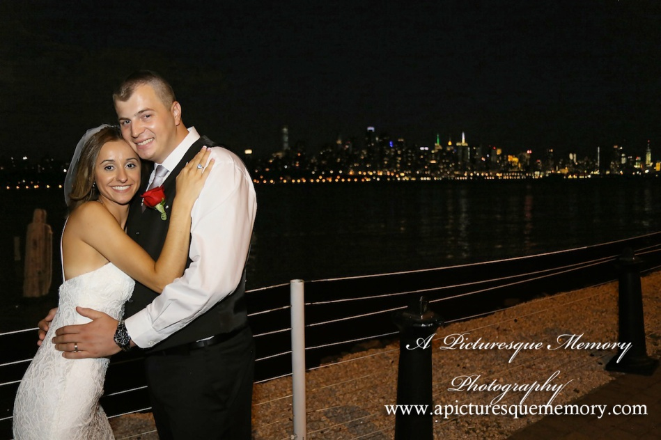 #brideandgroom, #justmarried, #njwedding, #apicturesquememoryphotography, #weddingphotography, #weddings, #watersiderestaurant, #nycskyline
