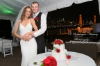 #brideandgroom, #justmarried, #njwedding, #apicturesquememoryphotography, #weddingphotography, #weddings, #cakecutting, #watersiderestaurant, #nycskyline