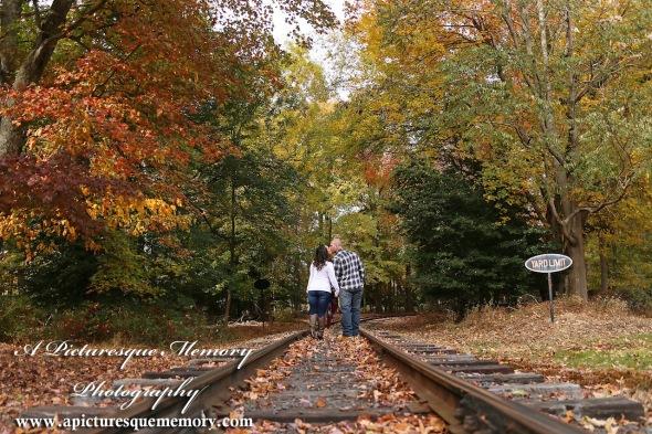 #weddingphotographer, #engagement, #engagementpictures, #engaged, #justengaged, #bridetobe, #groomtobe, #traintrackengagementphotos, #apicturesquememoryphotography, #allairestatepark