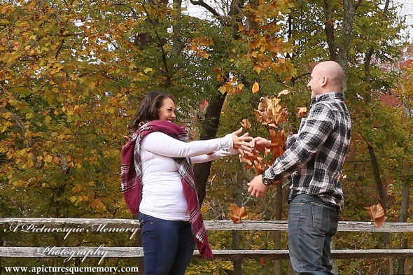 #weddingphotographer, #engagement, #engagementpictures, #engaged, #justengaged, #bridetobe, #groomtobe, #leaffight, #rusticengagement, #apicturesquememoryphotography, #allairestatepark