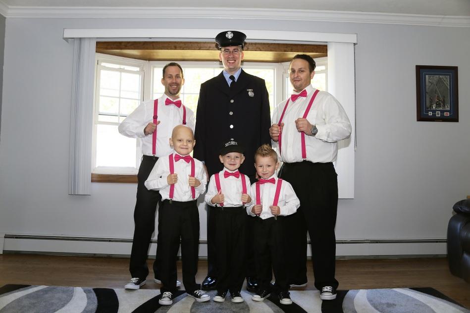 #njwedding, #apicturesquememoryphotography, #weddings, #njweddingphotography, #firefighterwedding, #groomsmen, #ringbearer, #ringsecurity, #pomptonlakesnjwedding