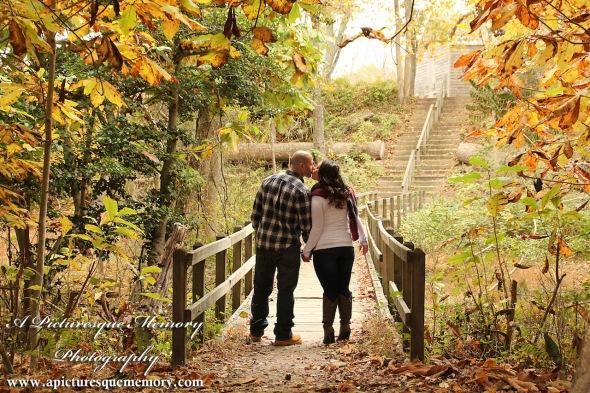 #weddingphotographer, #engagement, #engagementpictures, #engaged, #justengaged, #bridetobe, #groomtobe, #rusticengagementphotos, #apicturesquememoryphotography, #allairestatepark, #fallfoliage, #kiss