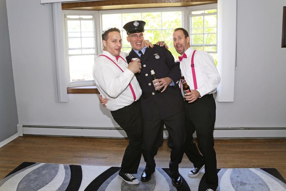 #groomtobe, #njwedding, #apicturesquememoryphotography, #weddings, #pomptonlakesnjwedding, #groomprep, #firefighterwedding, #groomsmen