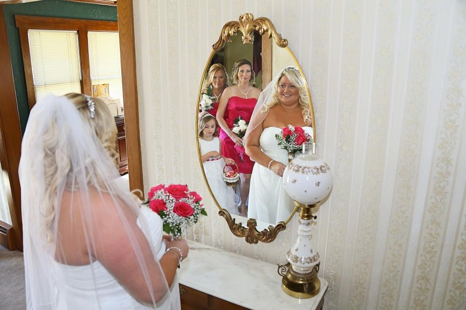 #bridelookinginmirror, #njwedding, #apicturesquememoryphotography, #weddings, #pomptonlakesnjwedding, #bridalprep, #weddingphotos, #njweddingphotographer