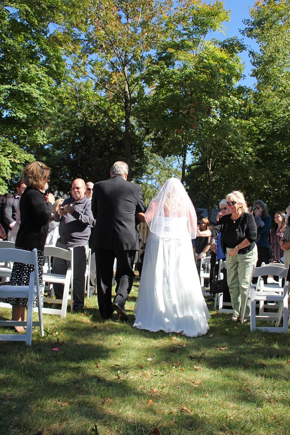 #bridedowntheaisle, #njwedding, #apicturesquememoryphotography, #weddings, #firefighterwedding, #pomptonlakesnjwedding, #backyardwedding, #bridesprocession