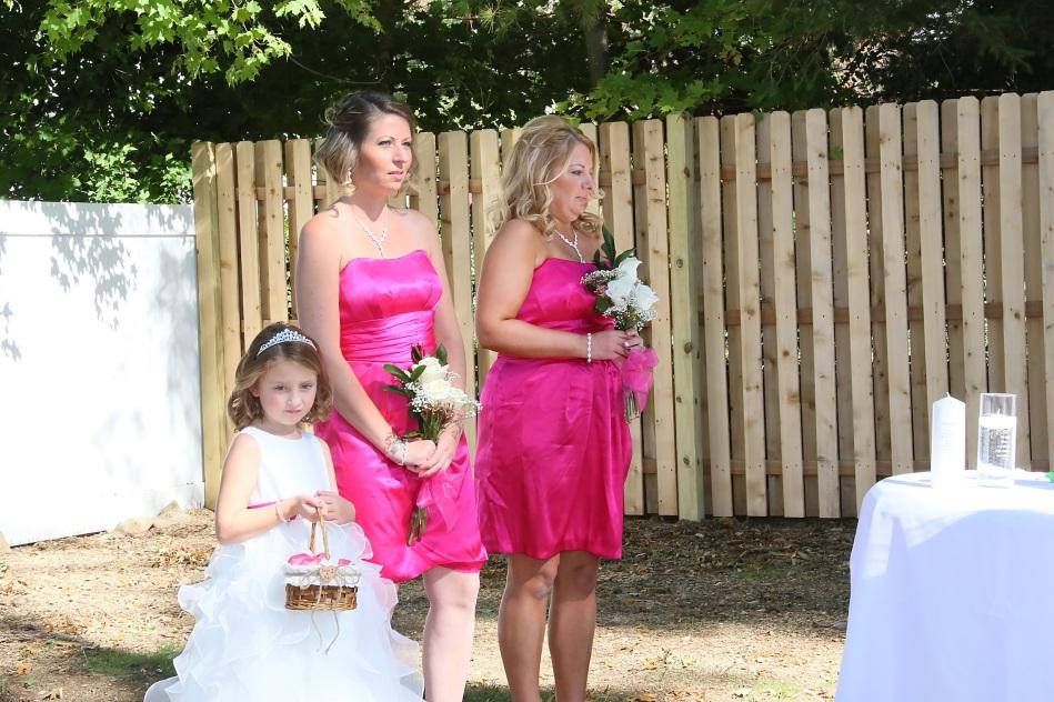 #njwedding, #weddingphotos, #backyardwedding, #bridesmaids, #flowergirl, #pomptonlakednjwedding