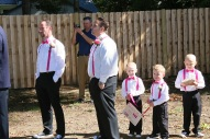 #njwedding, #backyardwedding, #weddingphotos, #groomsmen, #ringbearer, #pomptonlakesnjwedding