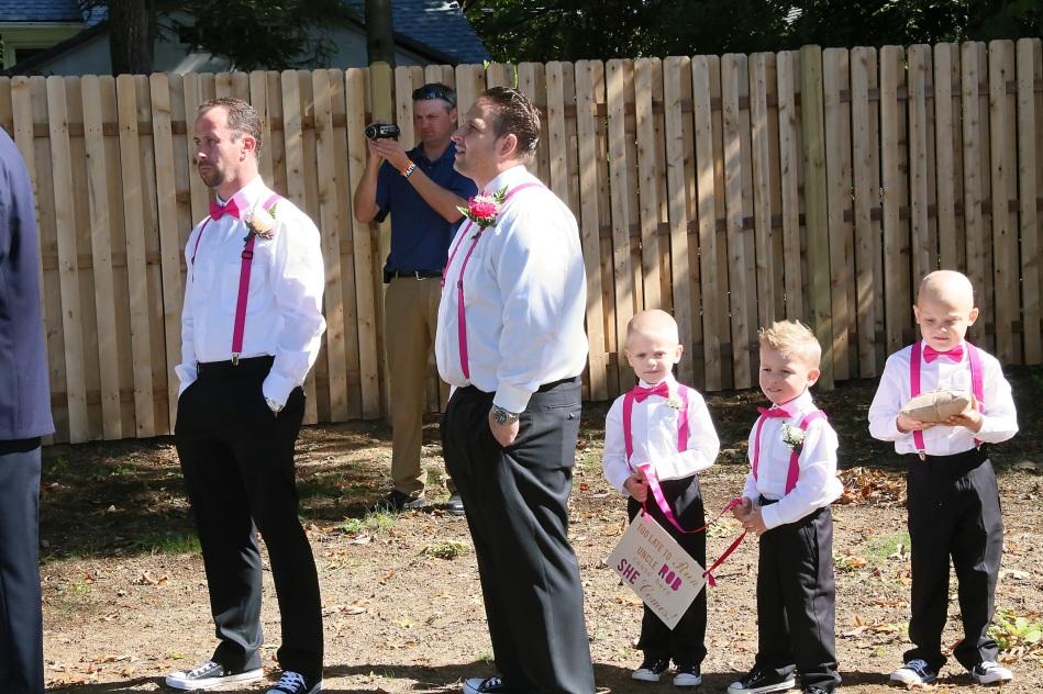 #njwedding, #backyardwedding, #weddingphotos, #groomsmen, #ringbearer, #pomptonlakesnjwedding