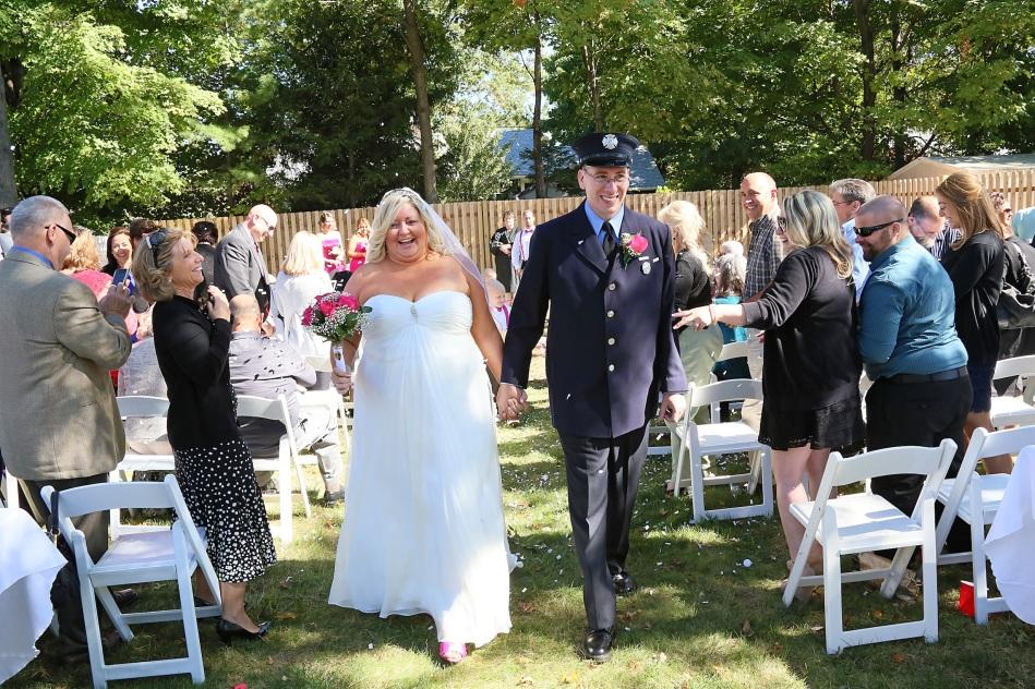 #justmarried, #njwedding, #apicturesquememoryphotography, #weddings, #firefighterwedding, #pomptonlakesnjwedding, #backyardwedding, #brideandgroom