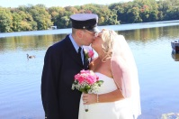 #justmarried, #njwedding, #apicturesquememoryphotography, #weddings, #firefighterwedding, #pomptonlakesnjwedding, #brideandgroom, #weddingphotosoverlake