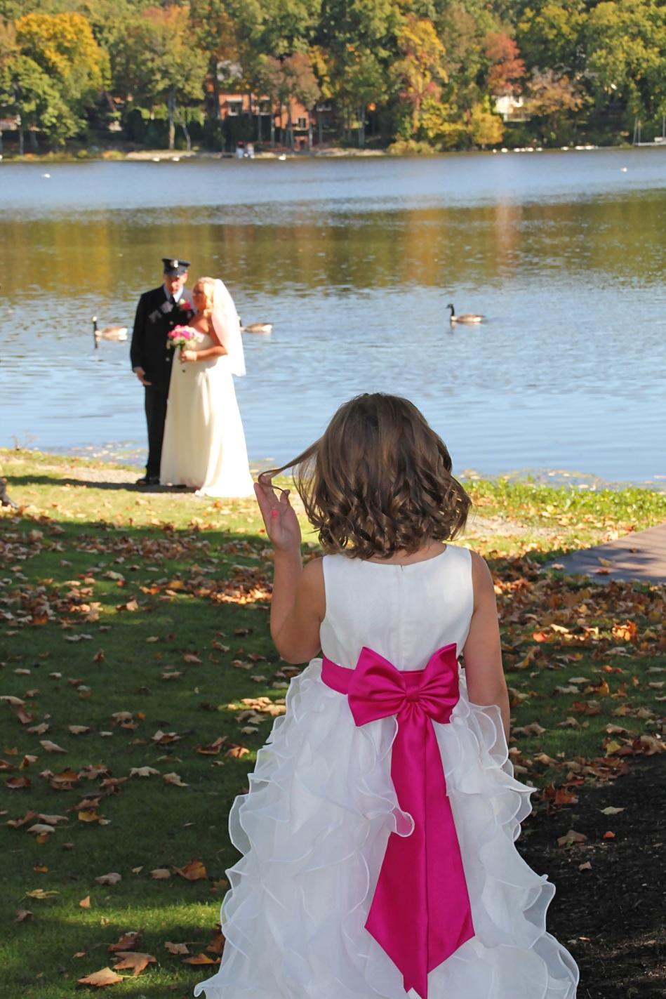 #justmarried, #njwedding, #apicturesquememoryphotography, #weddings, #firefighterwedding, #pomptonlakesnjwedding, #flowergirl, #weddingpictures