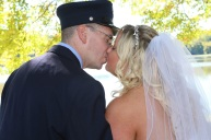 #justmarried, #njwedding, #apicturesquememoryphotography, #weddings, #firefighterwedding, #brideandgroomkiss, #pomptonlakesnjwedding