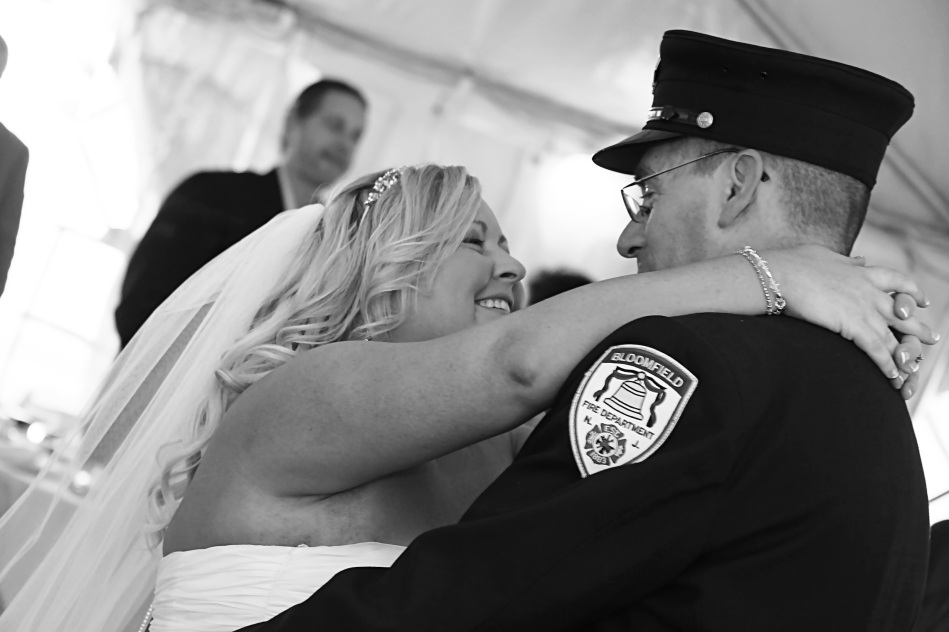 #backyardwedding, #justmarried, #njwedding, #apicturesquememoryphotography, #weddings, #firstdance, #brideandgroom, #pomptonlakesnjwedding, #firefighterwedding, #bloomfieldnjfirefighter