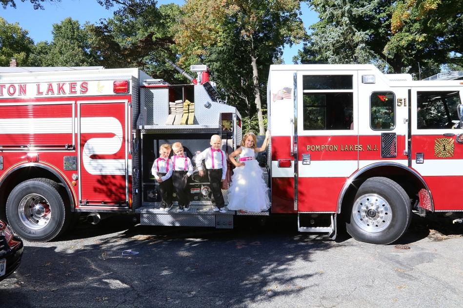 #firefighterwedding, #firetruck, #pomptonlakesnjwedding, #weddingphotographer, #njweddingphotography,
