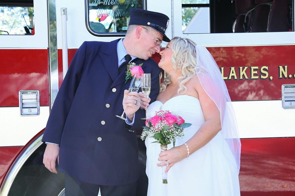 #justmarried, #njwedding, #apicturesquememoryphotography, #weddingphotography, #weddings, #njweddingphotographer, firefighterwedding, brideandgroomtoast, #bouquet, #pomptonlakesnjwedding
