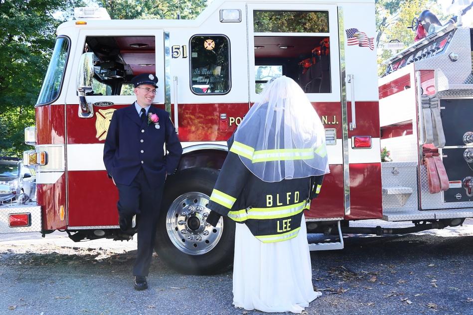 #justmarried, #njwedding, #apicturesquememoryphotography, #weddingphotography, #weddings, #firefighterwedding, bloomfieldfirefighter, #firetruck, #pomptonlakesnjwedding