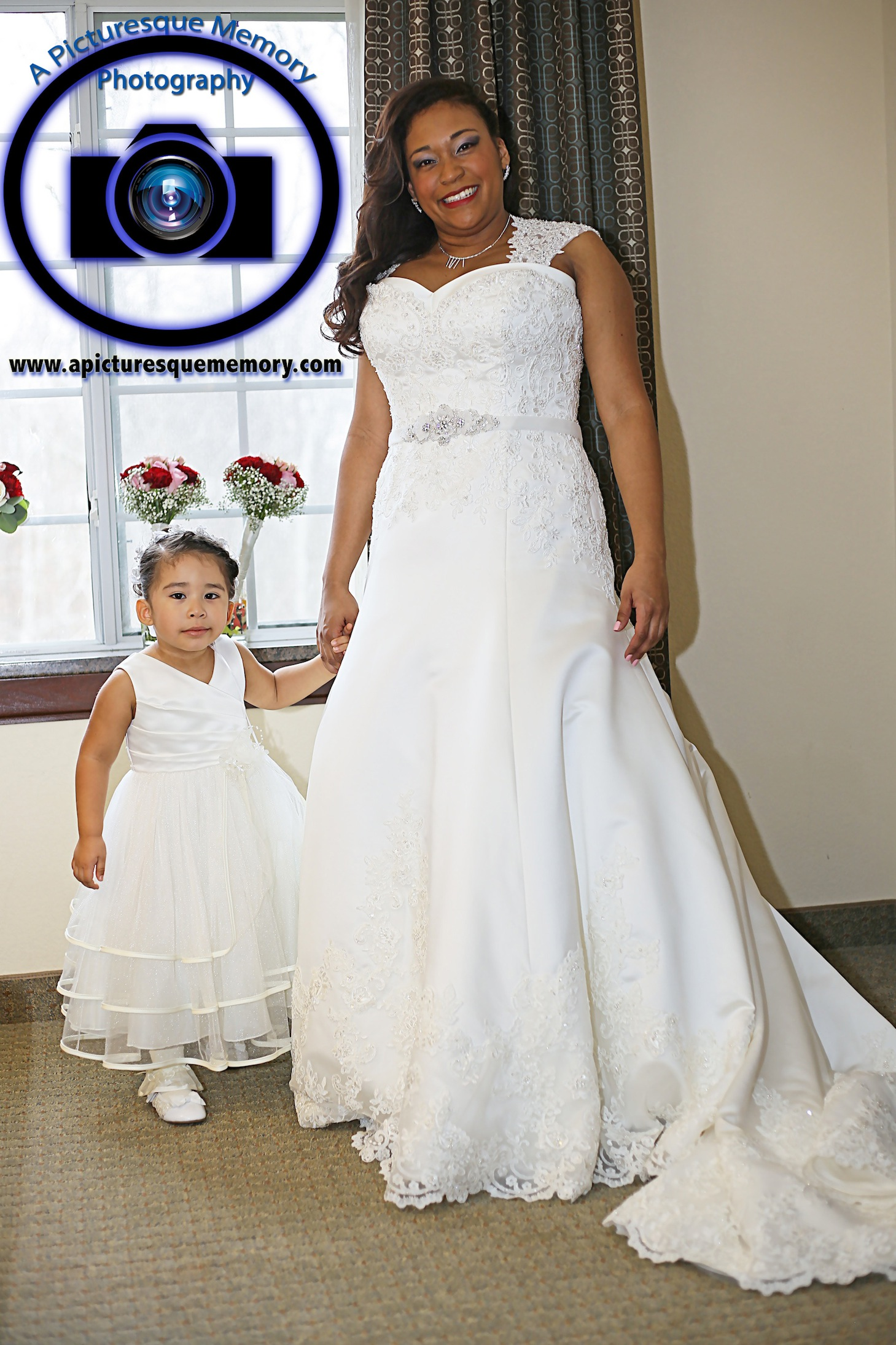 #njwedding, #njweddingphotography, #northbrunswickweddingphotographer#weddingphotos, #apicturesquememoryphotography, #staybridgesuitesweddingphotographer, #bride, #flowergirl, #motheranddaughter