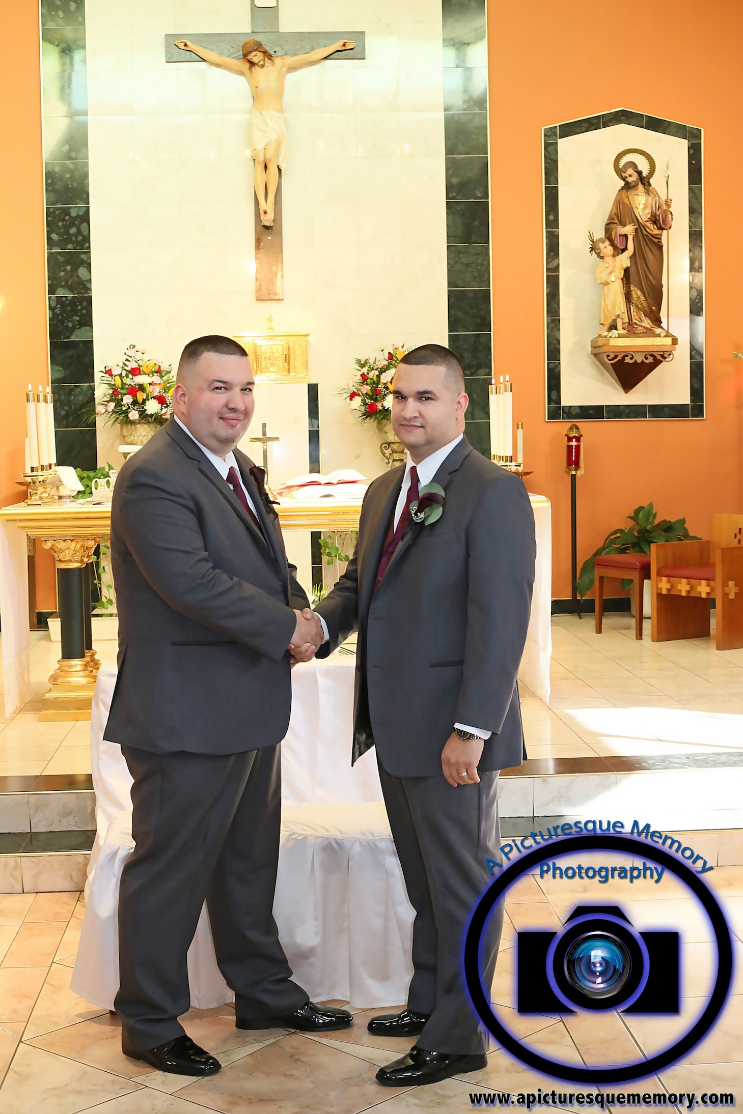 #njwedding, #njweddingphotography, #newbrunswickweddingphotographer#weddingphotos, #apicturesquememoryphotography, #ourladyofmountcarmelweddingphotographer, #groom, #bestman, #weddingceremony
