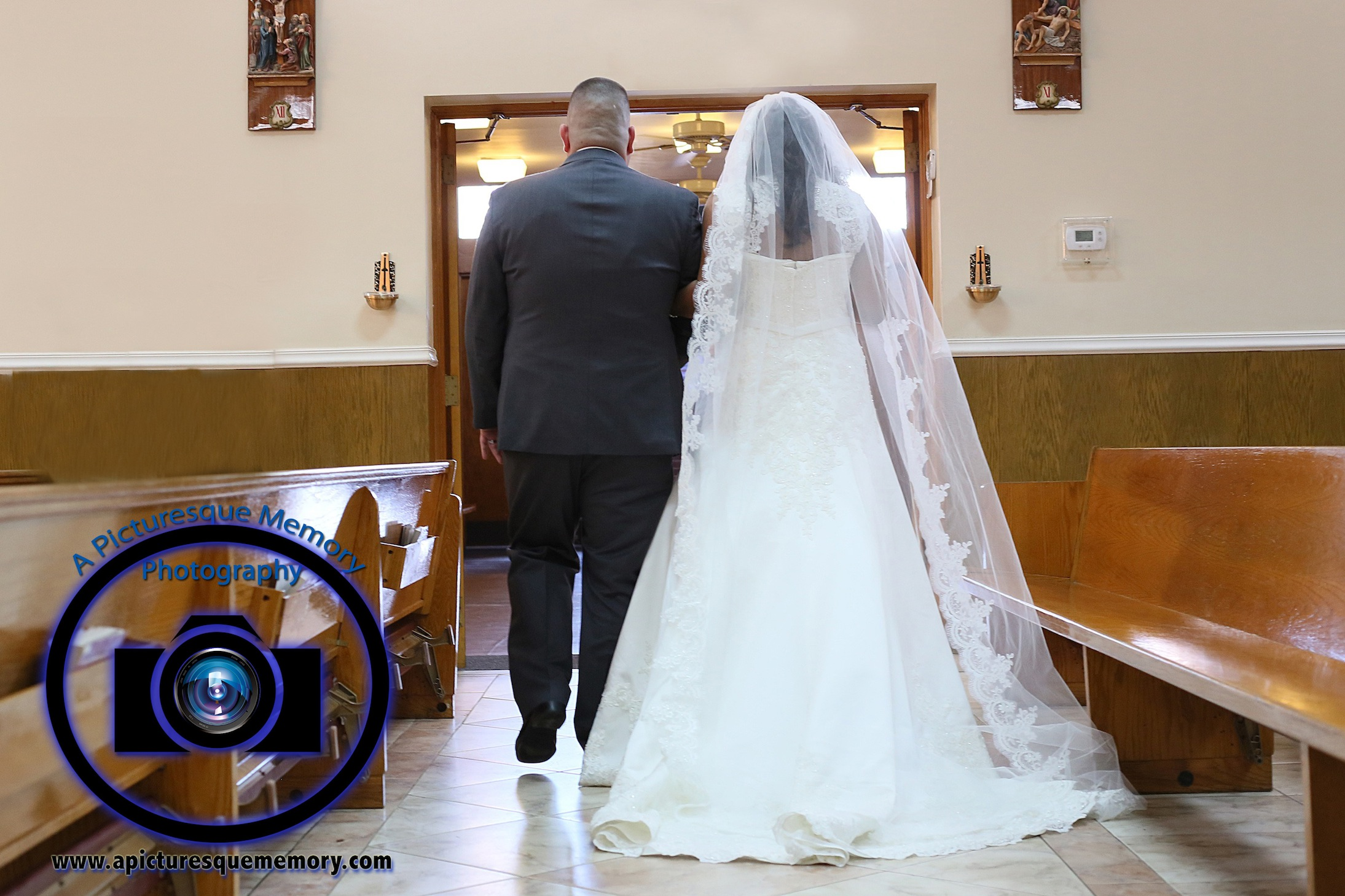 #njwedding, #njweddingphotography, #newbrunswickweddingphotographer#weddingphotos, #apicturesquememoryphotography, #ourladyofmountcarmelweddingphotographer, #weddingceremony, #brideandgroomrecessional