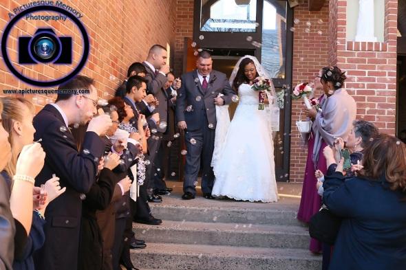 #njwedding, #njweddingphotography, #newbrunswickweddingphotographer#weddingphotos, #apicturesquememoryphotography, #ourladyofmountcarmelweddingphotographer, #recessionalballoons