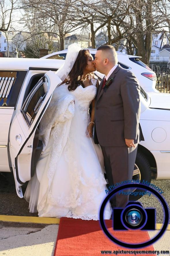 #njwedding, #njweddingphotography, #newbrunswickweddingphotographer#weddingphotos, #apicturesquememoryphotography, #ourladyofmountcarmelweddingphotographer, #limokiss