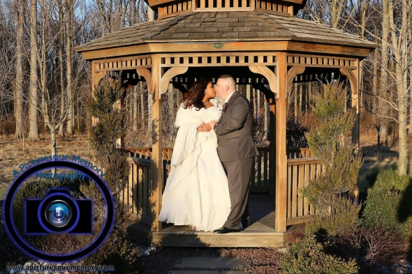 #njwedding, #njweddingphotography, #southbrunswickweddingphotographer#weddingphotos, #apicturesquememoryphotography, #pierresofsouthbrunswickweddingphotographer, #brideandgroom, #gazeebokiss