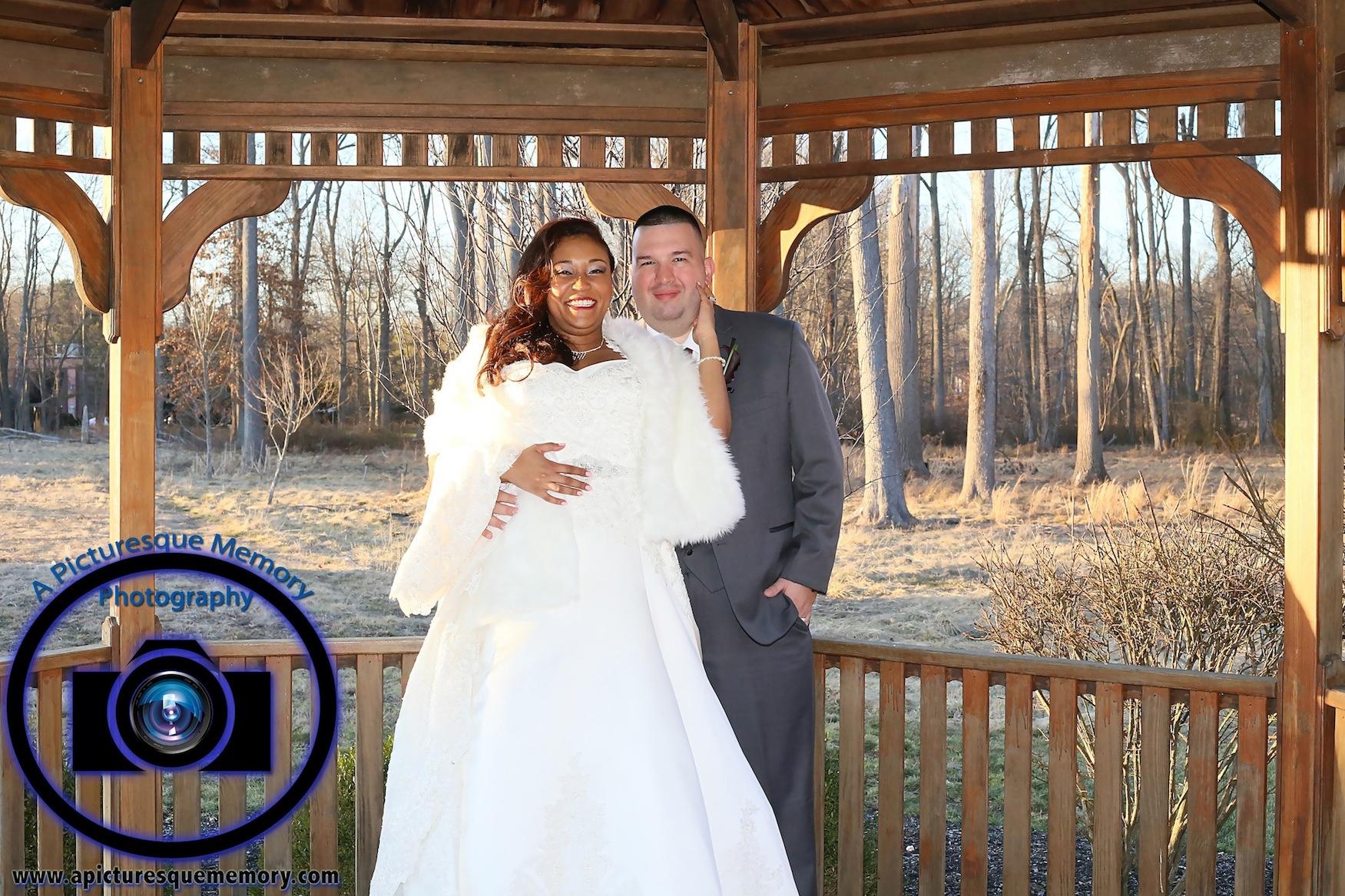 #njwedding, #njweddingphotography, #southbrunswickweddingphotographer#weddingphotos, #apicturesquememoryphotography, #pierresofsouthbrunswickweddingphotographer, #gazeebo, #groomandbride