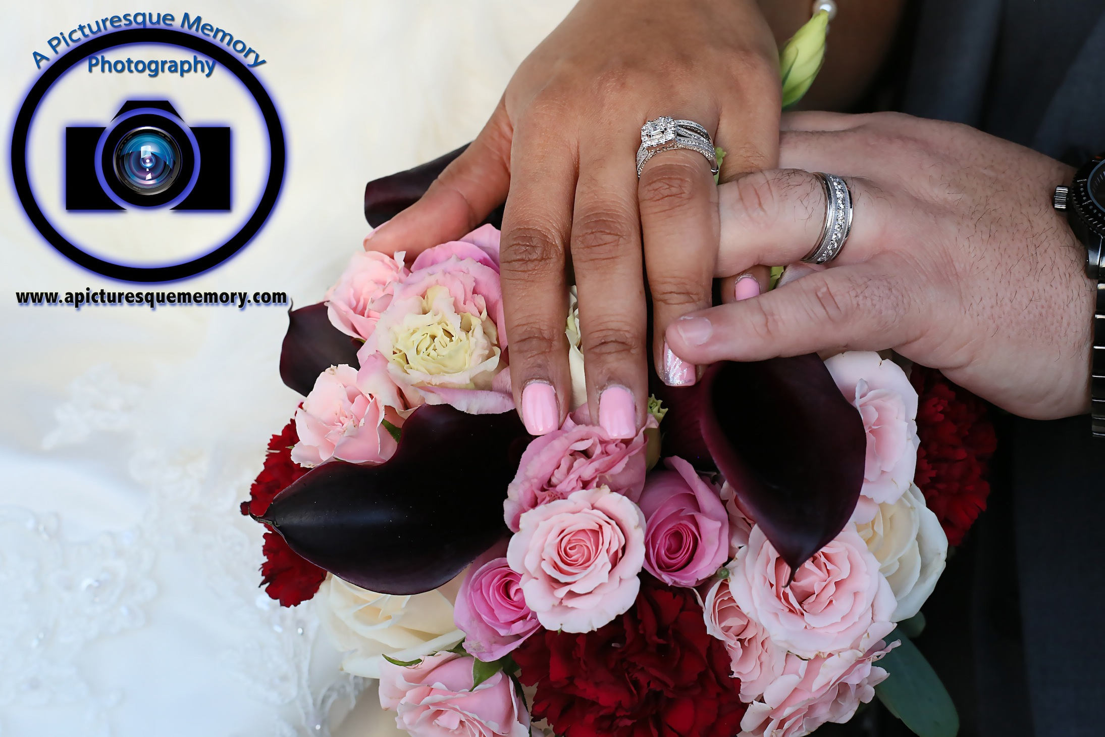 #njwedding, #njweddingphotography, #southbrunswickweddingphotographer#weddingphotos, #apicturesquememoryphotography, #pierresofsouthbrunswickweddingphotographer, #bridesbouquet, #weddingbands, #brideandgroom