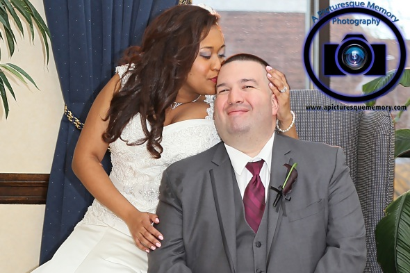 #njwedding, #njweddingphotography, #southbrunswickweddingphotographer#weddingphotos, #apicturesquememoryphotography, #pierresofsouthbrunswickweddingphotographer, #brideandgroom, #greysuit, #bridekissinggroom