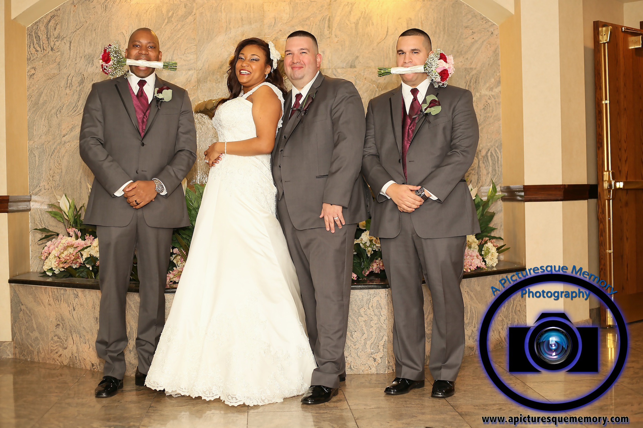 #njwedding, #njweddingphotography, #southbrunswickweddingphotographer#weddingphotos, #apicturesquememoryphotography, #pierresofsouthbrunswickweddingphotographer, #brideandgroom, #groomsmen, #greysuits