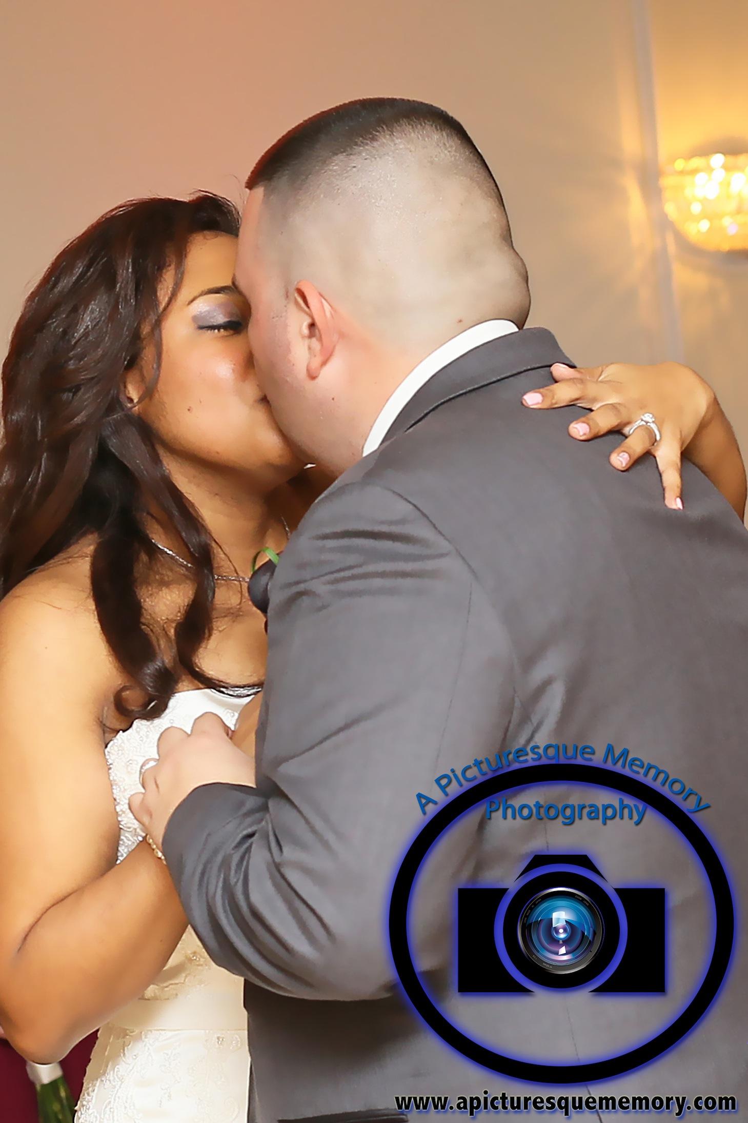 #njwedding, #njweddingphotography, #southbrunswickweddingphotographer#weddingphotos, #apicturesquememoryphotography, #pierresofsouthbrunswickweddingphotographer, #brideandgroomfirstdance, #brideandgroomkissing