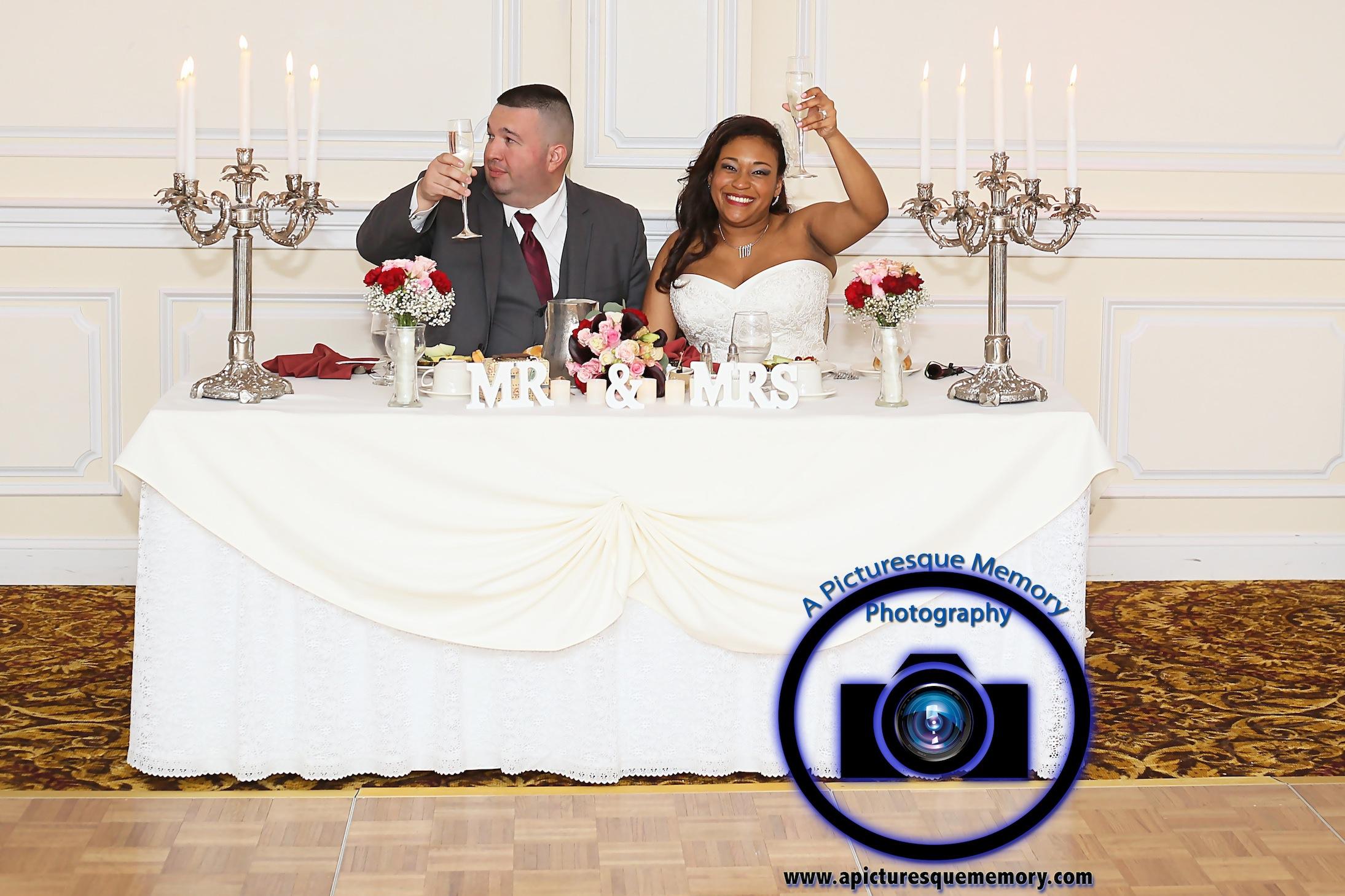 #njwedding, #njweddingphotography, #southbrunswickweddingphotographer#weddingphotos, #apicturesquememoryphotography, #pierresofsouthbrunswickweddingphotographer, #brideandgroomcheers